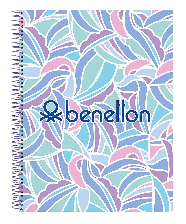 Benetton Arcobaleno Oficial Cuaderno Oficial 120 Hojas Tapas Duras 215x310mm
