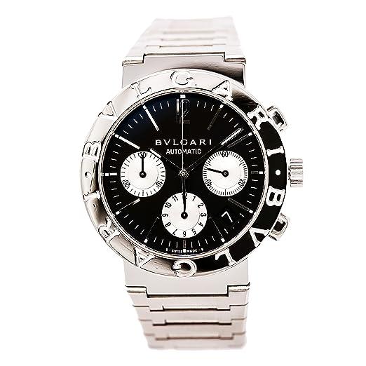 Bvlgari automatic-self-wind Cronógrafo Mens Reloj BB 33 SS CH (Certificado) de segunda mano: Bvlgari: Amazon.es: Relojes