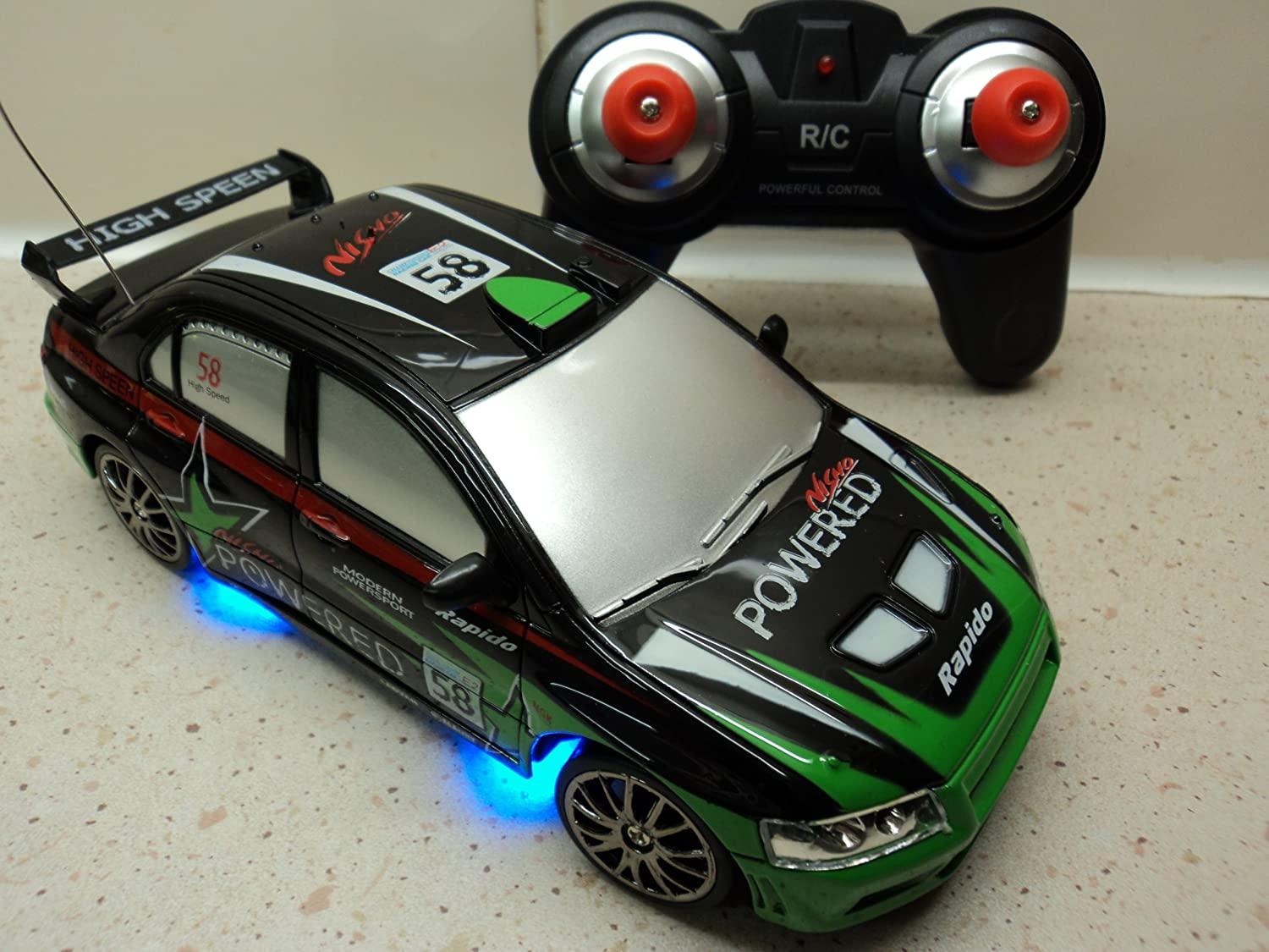 Mitsubishi Evo Style Radio Rechargeable Remote Control Car Rc
