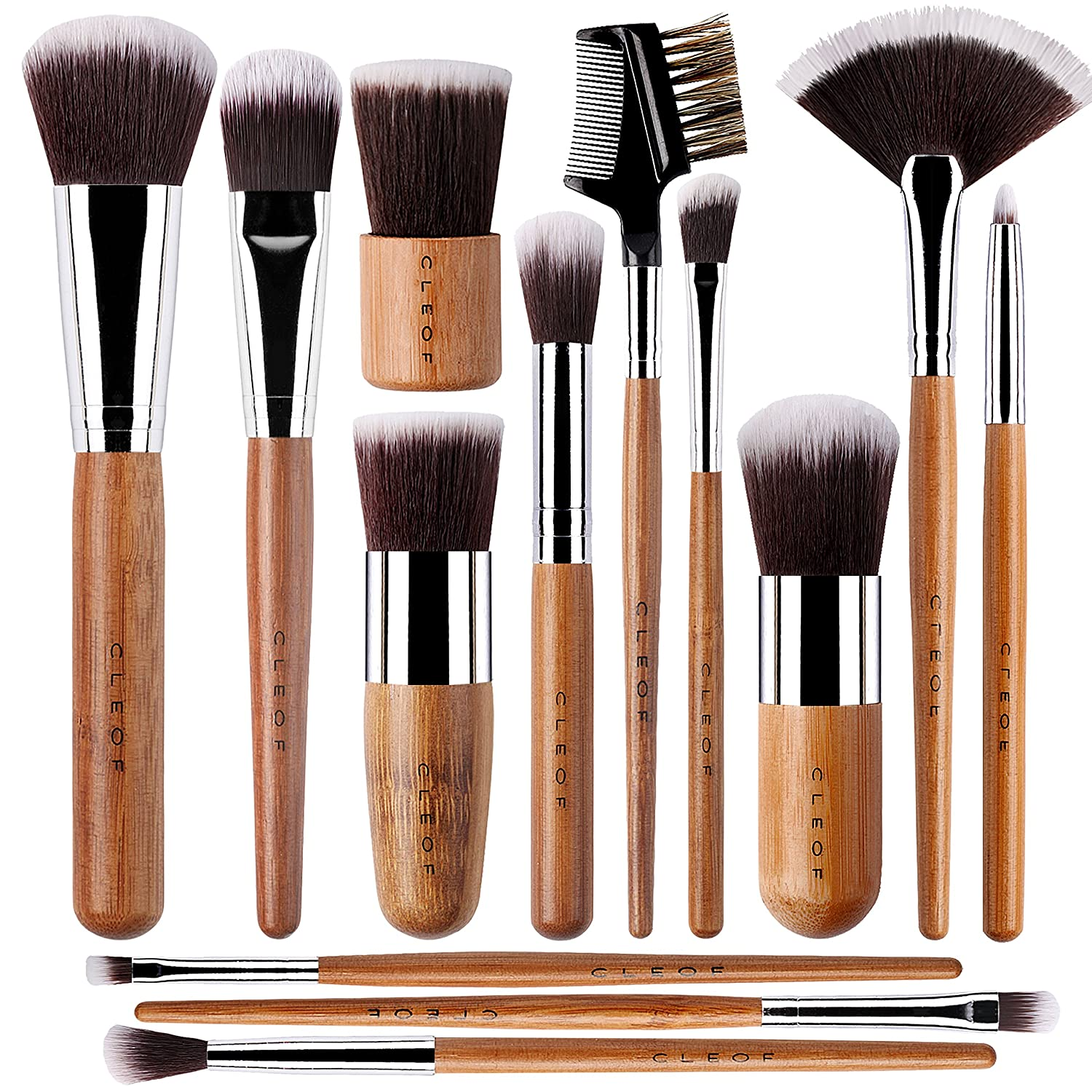 Vegan Valentine's Day Gifts: vegan bamboo makeup brush set