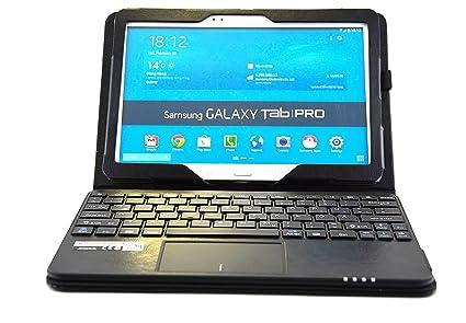 SonnyGoldTech - Funda con teclados y panel táctico para Galaxy TabPRO 10.1 | Teclado ingles (