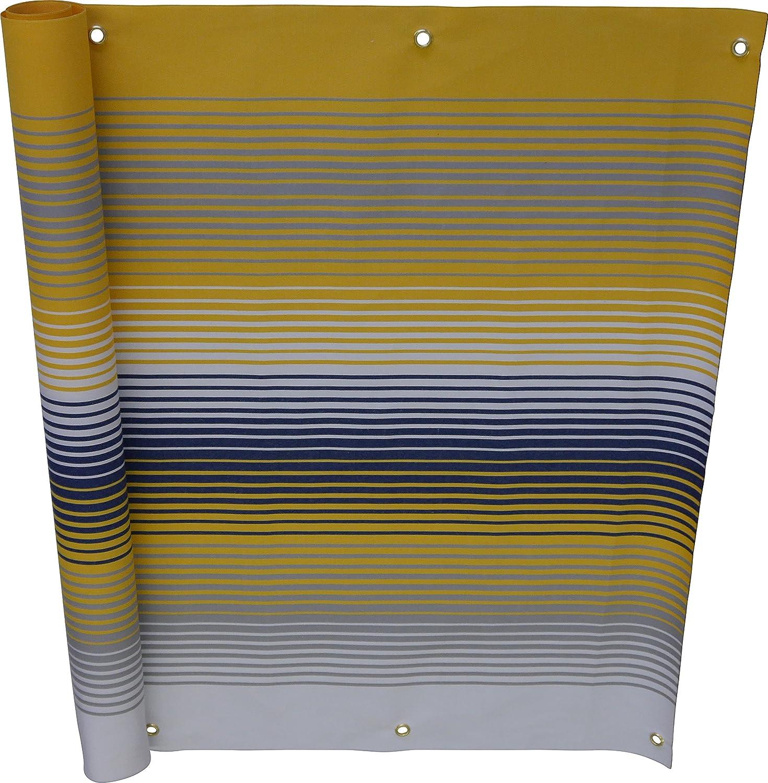 Angerer Balkonbespannung Nr 90 cm hoch L/änge: 6 Meter 500 gelb 3320//500/_600