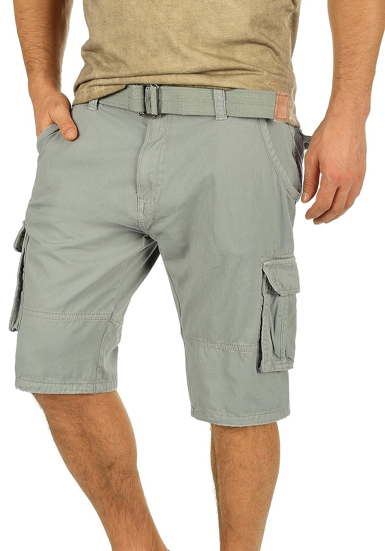 TALLA XL. Indicode Costa Pantalón Cargo Bermudas Pantalones Cortos para Hombres con Cinturón de 100% Algodón Regular-Fit