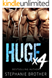 HUGE X4 - A Double Twin Stepbrother MMFMM Menage Romance (HUGE SERIES)