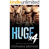 HUGE X4: A Double Twin Stepbrother MMFMM Menage Romance (HUGE SERIES)