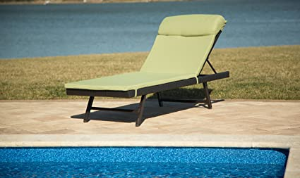 Amazon.com: Hannover Orleans all-weather chaise longue con ...