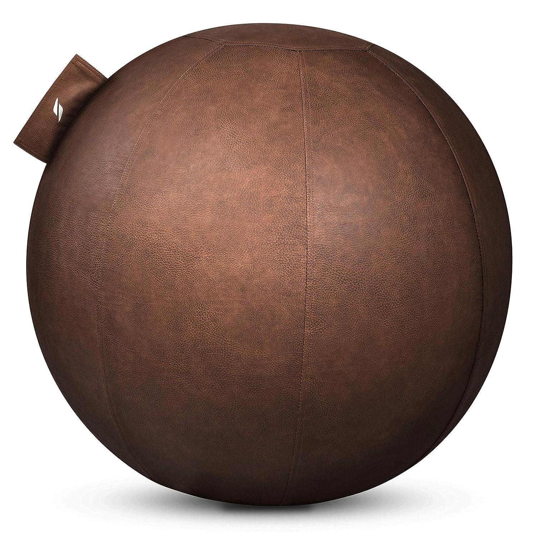 STRYVE Ball | Gymnastikball mit Pendelwirkung | Anti-Rutsch-Oberfläche | Belastbar bis 150 kg | Lederstoff | Gewicht: 2,1 kg