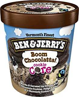 product image for Ben & Jerry's Ice Cream Boom Chocolatta! Cookie Core Non-GMO oz cookie_dough 16 Ounce (Pack of 8)