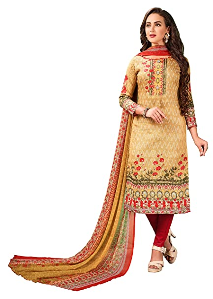 4e5ac172c5 V Sales Multicolour Unstitched Printed Cotton Dress Material: Amazon.in:  Clothing & Accessories
