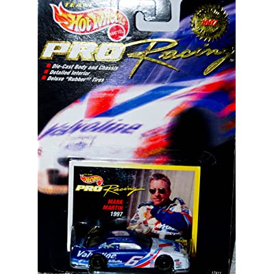 1997 - Mattel - Team Hot Wheels - Pro Racing / Collector 1st Edition - Mark Martin - #6 Valvoline - Ford Thunderbird - Upper Deck Collector Card - 1:64 Scale Die Cast - Out of Production - New - Limited Edition - Collectible: [5Bkhe0502365]