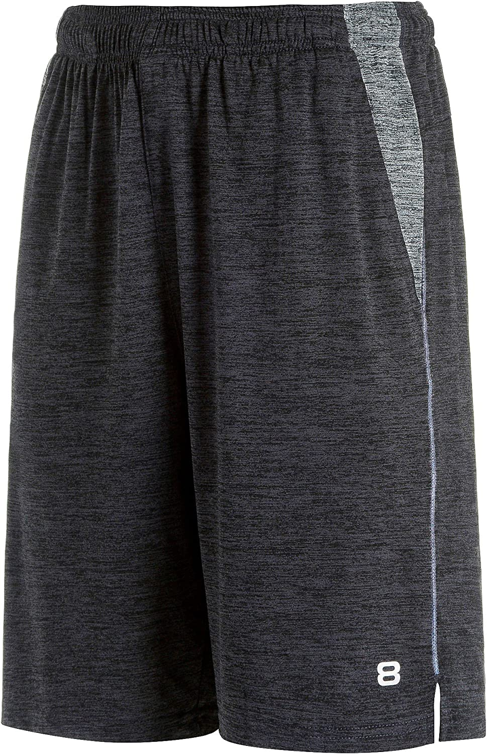 Layer 8 Men's Short Quickdry Athletic 10 Inch Inseam Extra Mile Short with Two Side Pockets