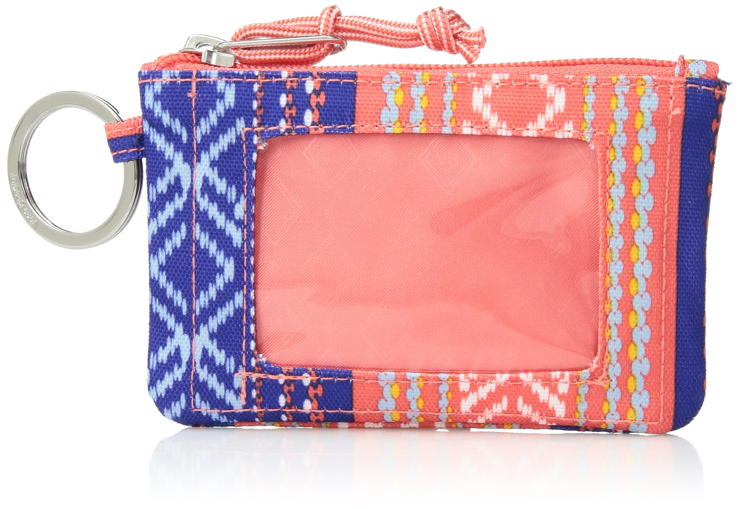 Vera Bradley Lighten up Zip ID Case, Polyester, Bright Serape Stripe