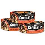"Gorilla Tape, Black Duct Tape, 1.88"" x 35 yd, Black, (Pack of 3)"