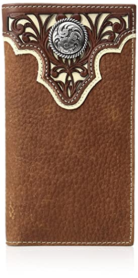9f13f312b3cb Ariat Men's Tope Inlay Top Circle Rodeo Western Wallet