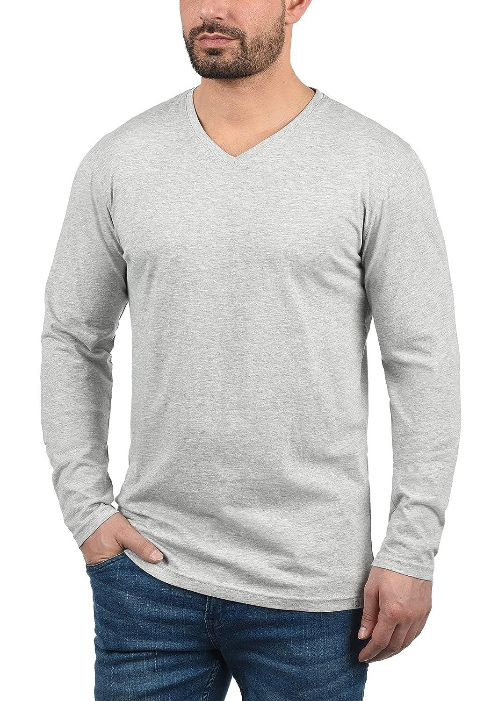 solid beda herren longsleeve langarmshirt shirt mit v. Black Bedroom Furniture Sets. Home Design Ideas