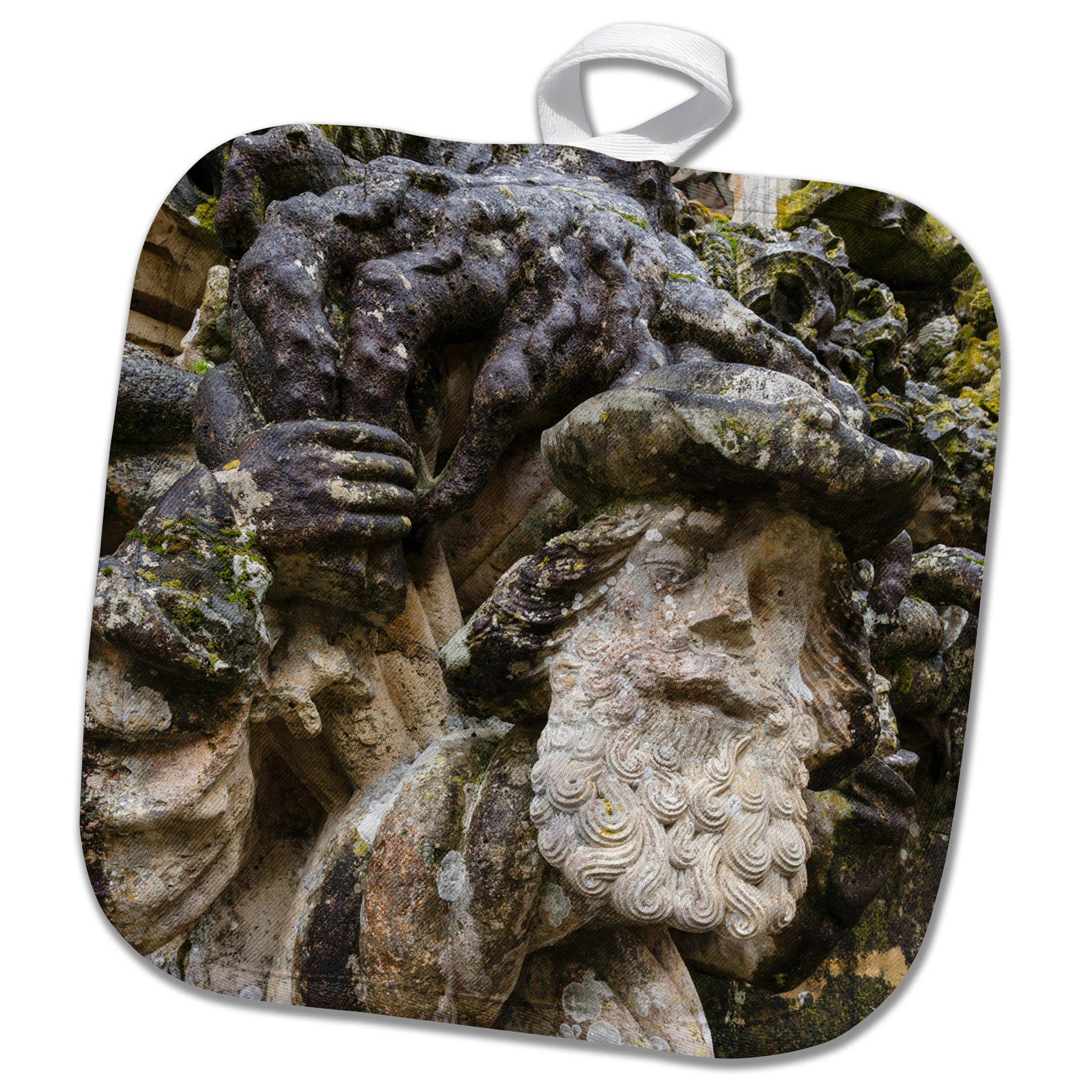 3dRose Danita Delimont - Religion - Face sculpture, Manueline Window, Convent of Christ, Tomar, Portugal - 8x8 Potholder (phl_277808_1)
