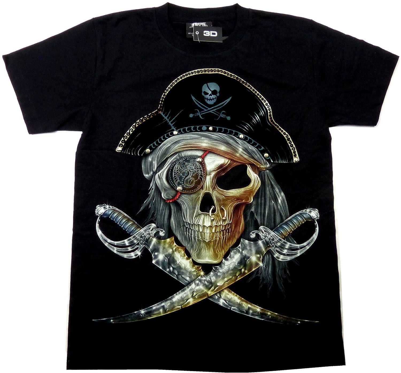Evil Wear T-Shirts schwarz 3D Design Party leuchtet im Dunkeln L