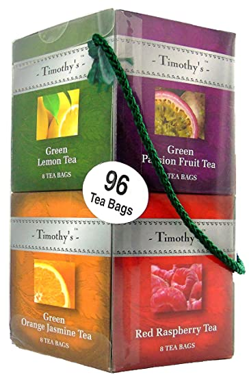 Amazon.com : Timothy's Tea - 96 Tea Bag Gift Set and Sampler ...