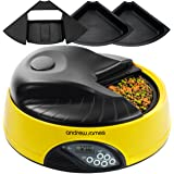 Andrew James 4 Day Automatic Pet Feeder with Voice Recorder - Yellow