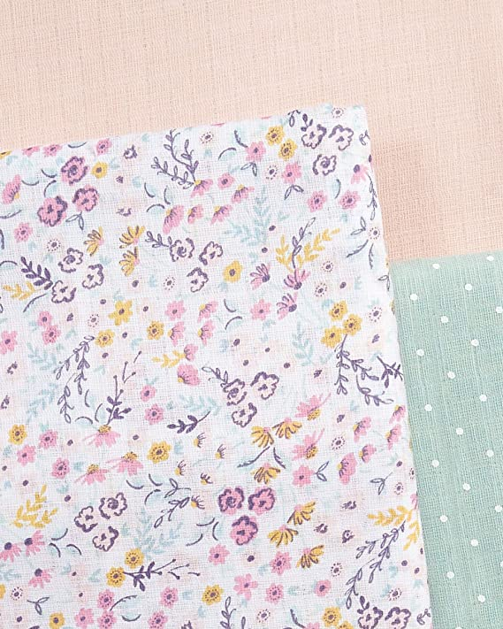 3 Pack Mamas /& Papas Baby Large Lilybelle Muslin Squares