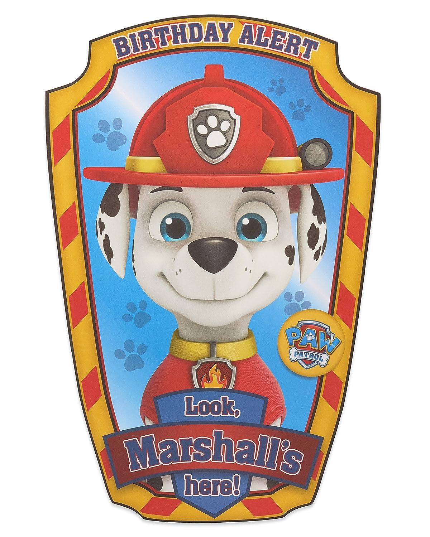 Tarjetas de cumpleaños, color Paw Patrol Marshall Birthday ...