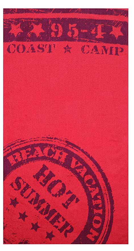BETZ Toalla de Playa de baño XXL 100% algodón Medidas 86x160 cm diseño Hot Summer