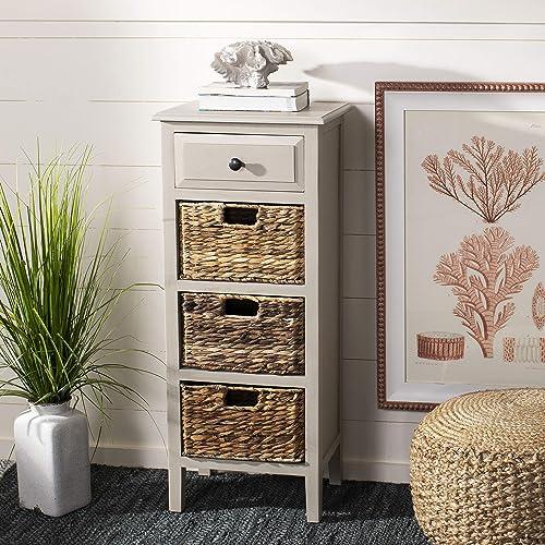 Safavieh Home Michaela Coastal Vintage Grey 4-drawer Side Table