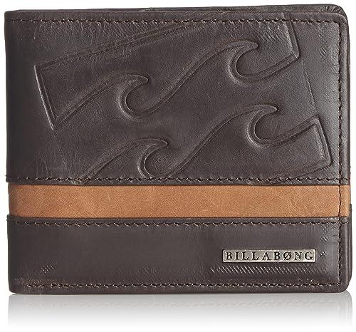 Billabong Pheonix - Cartera para hombre, color Choclate, talla 11.5cms x 9.5cms