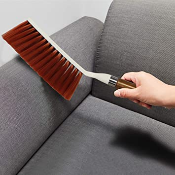 HOKIPO® Long Soft Bristles Upholstery Sofa Cleaning Brush for Home, 36 cm,  Random Colors : Amazon.in: Home Improvement