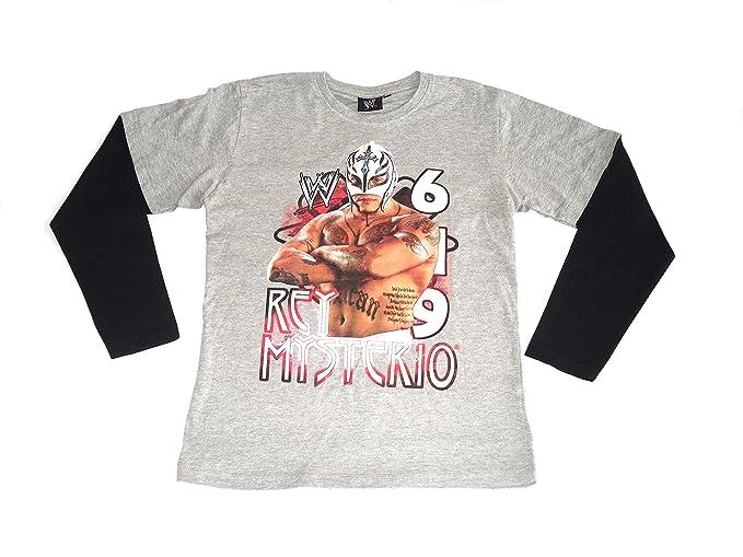 WWE Palo de Golf para niños de Manga Larga en la Parte Superior y T-Camiseta  de Manga Corta Rey Mysterio  Amazon.es  Ropa y accesorios 0c92934ef49cb