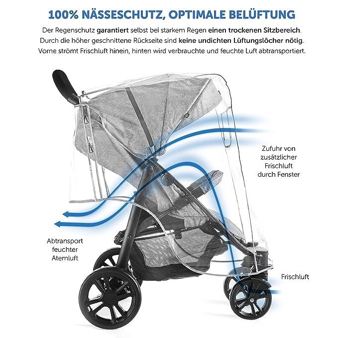 ... Universal para Silla de Paseo | Burbuja de lluvia con ventana, plegable para fácil entrada y salida | Se adapta a cualquier carrito: Amazon.es: Bebé