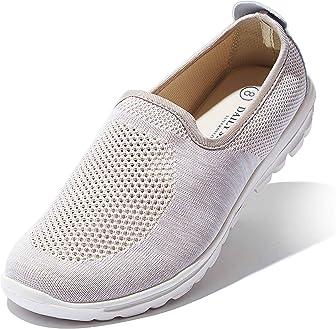 Zapatillas DailyShoes sin cordones, con suela resistentes de espuma viscoelástica, malla transpirable, tracción fiable, perfectas para senderismo, paseos o entrenamiento, para mujer