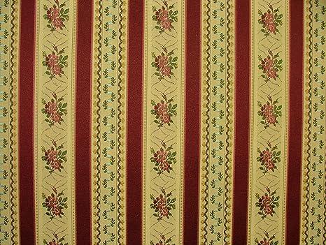 Regency tela de rayas de vino - Ideal para sillas de comedor ...