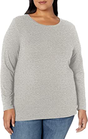 Amazon Essentials Plus Size Long-sleeve T-shirt - fashion-t-shirts Mujer