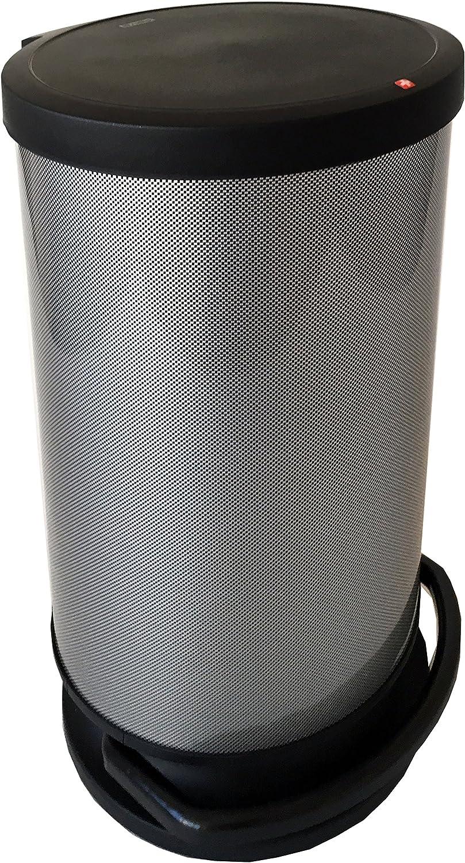 SUNDIS 1165001 Poubelle /à pedale et d/écor IML Polypropyl/ène 6L Metal