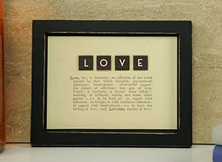 Vintage Style Definition Of \'Love\' Dictionary Frame East Of India ...