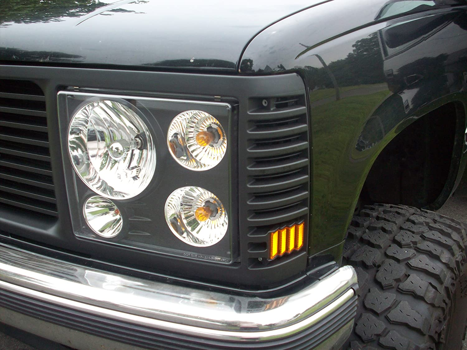 92 99 Chevy Tahoe Custom Grille Kit Range Rover Style 1998 Tail Light Wiring 1992 1993 1994 1995 1996 1997 1999 2wd 4wd Chrome Black Headlights Automotive