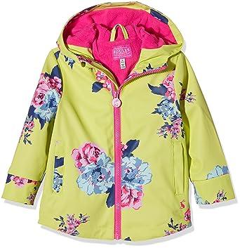 7f57a117b Joules Girls' Little Raindance Rubber Coat, Lime Floral, ...
