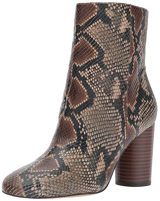 Sam Edelman Women's Corra Mid Calf Boots Heel | Faux Snake Booties for Women | Fall Boots