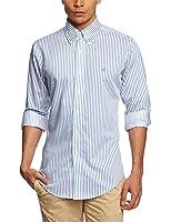 Brooks Brothers Non Iron Twill Banker Stripe Slim Men's Shirt