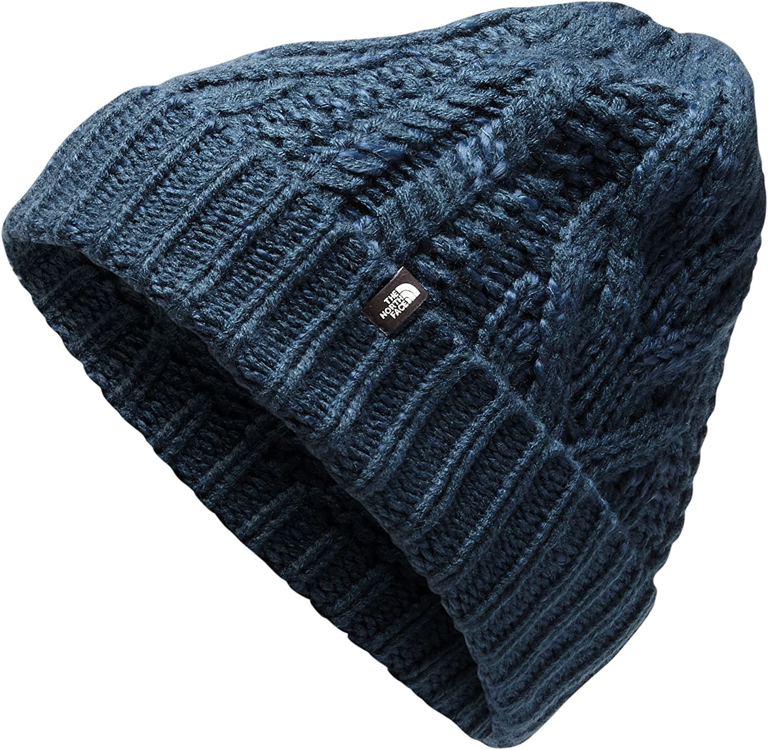 The North Face Minna Black Cable Knit Beanie Hat One Size Unisex New