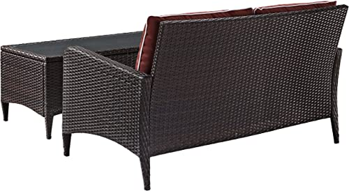 Crosley Furniture Kiawah 2-Piece Outdoor Wicker Conversation Set