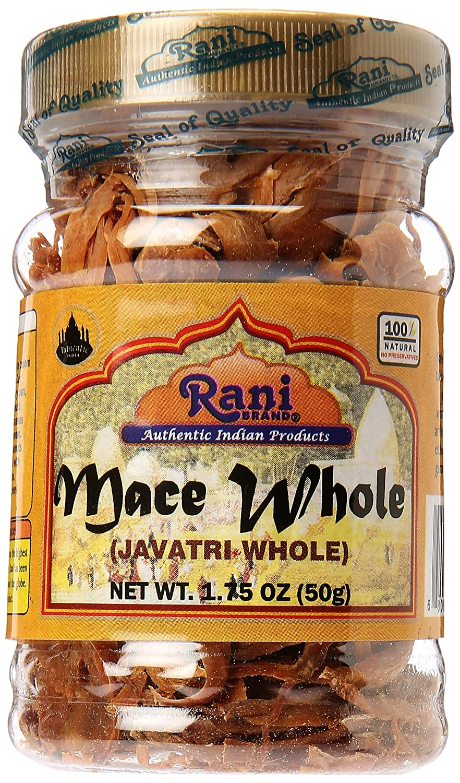 Rani Mace Whole (Javathri), Spice 1.75oz (50g) PET Jar ~ All Natural | Vegan | Gluten Free Ingredients | NON-GMO | Indian Origin
