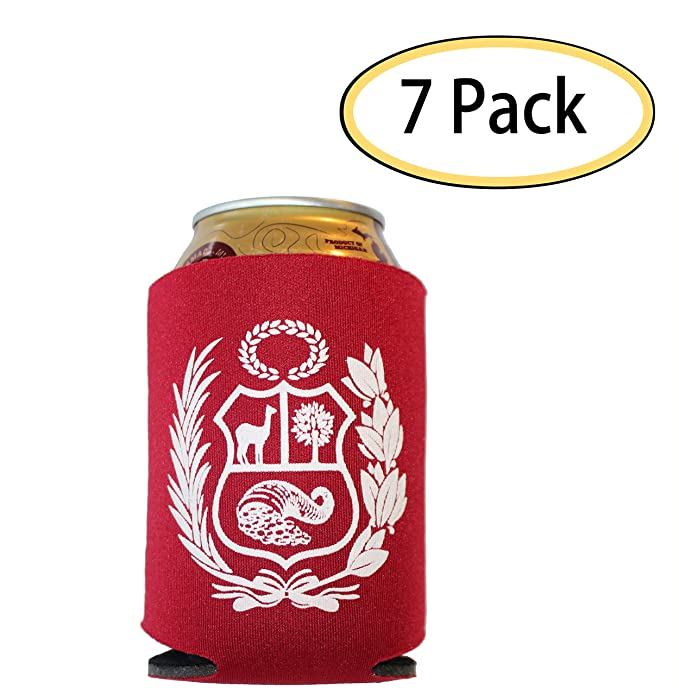 Amazon.com : Peru Escudo - Can/Bottle Insulator Coolers/Koozie / Portavaso/Portalatas - 7 Units. Front & Back Printing: Russia2018 : Sports & Outdoors