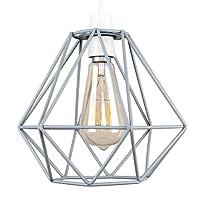 Retro Style Grey Metal Basket Cage Ceiling Pendant Light Shade