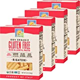 Bionaturae Rigatoni Gluten-Free Pasta   Rice and Lentil Rigatoni Pasta   Non-GMO   Lower Carb   Kosher   USDA Certified…