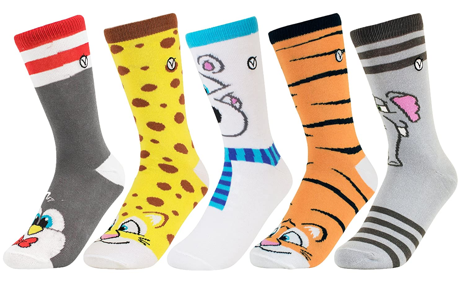 5 pack Stylish Casual Unisex Cotton Socks for Boys and Girls Kids 5 Pack Socks Fun Footwear By VYBE