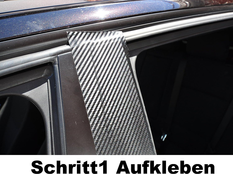 sch/ützen Sie effektiv Ihren kostenbaren Auto Lack 6x Carbon schwarz T/ürzierleisten Verkleidung B S/äule T/ürs/äule passend f/ür Ihr Fahrzeug