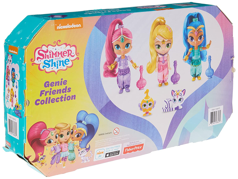 Shimmer and Shine 3-Piece Pretty Genie Friends Doll Set Mattel