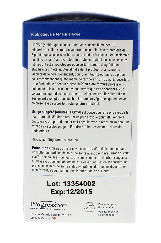 Amazon.com: Progressive HCP 70 - 100% Human Strain Probiotic, 120 Capsules: Health & Personal Care